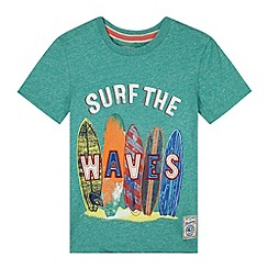 Mantaray - Boy's green surfboards print t-shirt