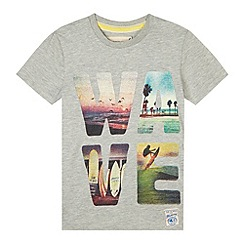 Mantaray - Boy's grey photo 'WAVE' t-shirt