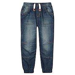 Mantaray - Boy's blue cuffed denim jeans
