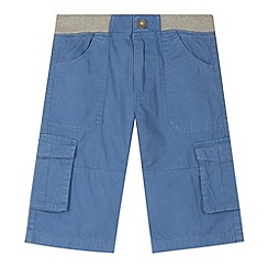 Mantaray - Boy's blue ribbed waist cargo shorts