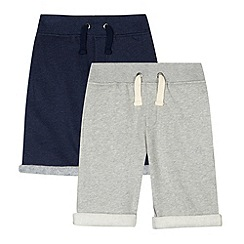 Mantaray - Pack of two boy's navy sweat shorts