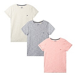 Mantaray - Pack of three boy's navy, red and off white t-shirts