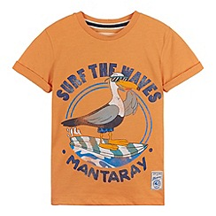 Mantaray - Boy's orange seagull t-shirt