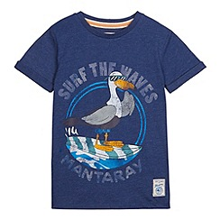 Mantaray - Boy's navy seagull printed t-shirt
