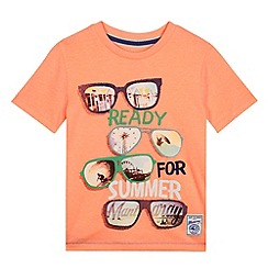 Mantaray - Boy's bright orange sunglasses print t-shirt