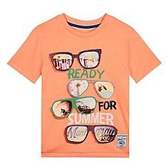 Mantaray - Boy's bright orange sunglasses print t-shirt