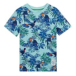 Mantaray - Boy's blue toucan print t-shirt