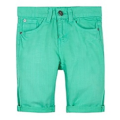 Mantaray - Boy's green five pocket shorts