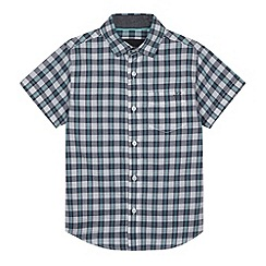 RJR.John Rocha - Designer boy's light turquoise checked shirt