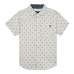 RJR.John Rocha - Designer boy's cream embroidered spots shirt