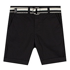 RJR.John Rocha - Designer boy's black belted chino shorts