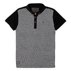 RJR.John Rocha - Designer boy's black chequerboard polo shirt