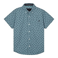 RJR.John Rocha - Designer boy's light turquoise bird printed shirt