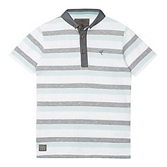 RJR.John Rocha - Designer boy's white striped jacquard polo shirt