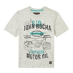 RJR.John Rocha - Designer boy's grey motorbike t-shirt