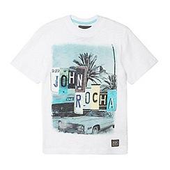 RJR.John Rocha - Designer boy's white number plate logo print t-shirt
