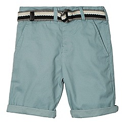 RJR.John Rocha - Designer boy's light turquoise belted chino shorts