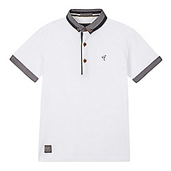 RJR.John Rocha - Designer boy's white chambray collar pique polo shirt