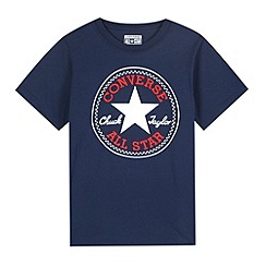 Converse - Boy's navy 'Chuck Taylor' patch t-shirt