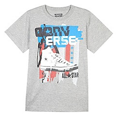 Converse - Boy's grey flag t-shirt