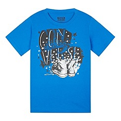 Converse - Boy's blue graphic trainer print t-shirt