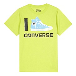 Converse - Boy's lime trainer print t-shirt