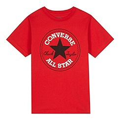 Converse - Boy's red 'Chuck Taylor' patch t-shirt