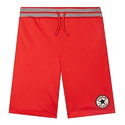 Converse - Boy's red mesh shorts