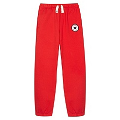 Converse - Boy's red 'Chuck Taylor' patch jogging bottoms