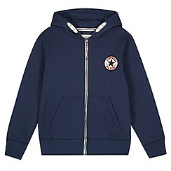 Converse - Boy's navy 'Chuck Taylor' zip through hoodie