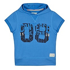 Converse - Boy's blue short sleeved hoodie