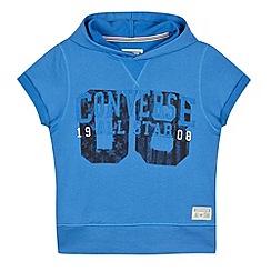 Converse - Boy's blue short sleeved hoodie