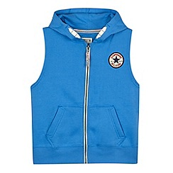 Converse - Boy's blue logo applique gilet
