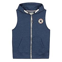 Converse - Boy's navy logo applique gilet