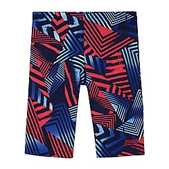 Zoggs - Boy's navy geometric print swim shorts
