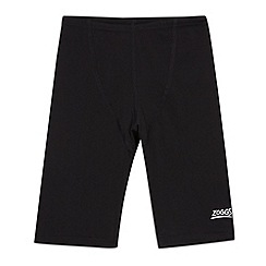 Zoggs - Boy's black plain swim trunks