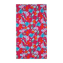 Zoggs - Pink sea creature beach towel