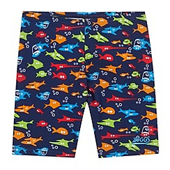 Zoggs - Boy's navy shark swim trunks