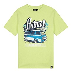 Animal - Boy's green van printed t-shirt