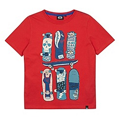 Animal - Boy's red skateboard print t-shirt