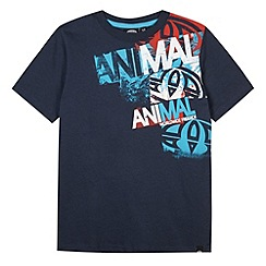 Animal - Boy's navy logo print t-shirt