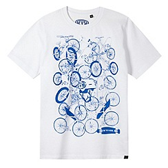 Animal - Boy's white bike print t-shirt