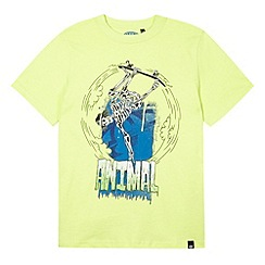 Animal - Boy's green skater skeleton print t-shirt