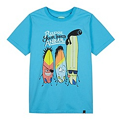 Animal - Boy's aqua slogan surfboard t-shirt