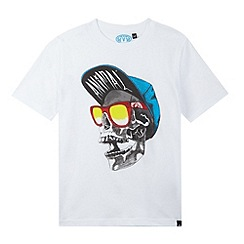 Animal - Boy's white skull print t-shirt