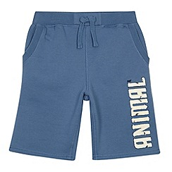 Animal - Boy's blue logo sweat shorts