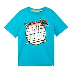 Animal - Boy's turquoise cartoon logo t-shirt