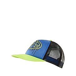 Animal - Boy's blue colour block logo cap