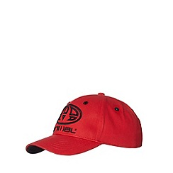 Animal - Boy's red logo applique cap