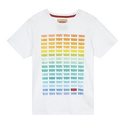 Levi's - Boy's white ombre logo print t-shirt